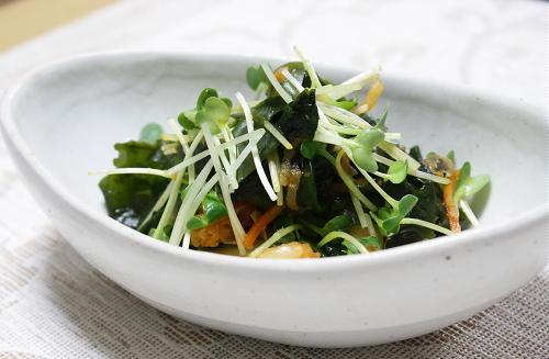 今日のキムチ料理レシピ:わかめのキムチ炒め