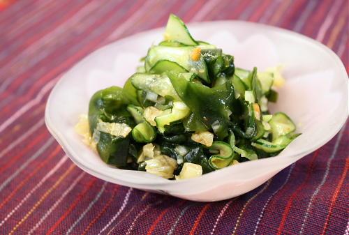 今日のキムチ料理レシピ:ワカメのネギキムチ和え