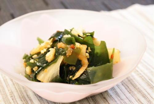 今日のキムチ料理レシピ:わかめのキムチ和え