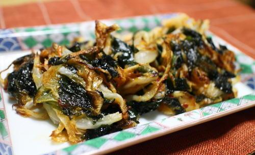 今日のキムチレシピ:わかめとキムチの一口焼き