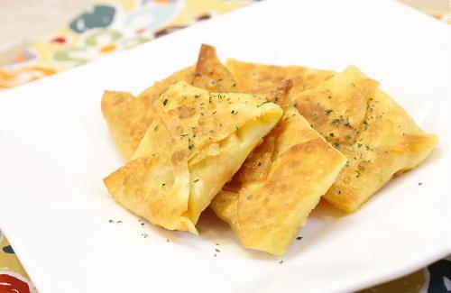 今日のキムチ料理レシピ:焼きキムチワンタン
