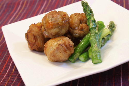 今日のキムチ料理レシピ:割干しキムチ入り豚肉のから揚げ