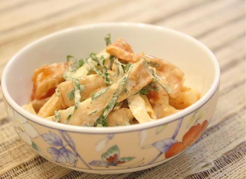 今日のキムチ料理レシピ:割干しキムチとちくわのマヨネーズ和え