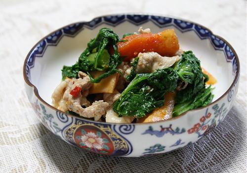 わさび菜と大根キムチのポン酢和えレシピ