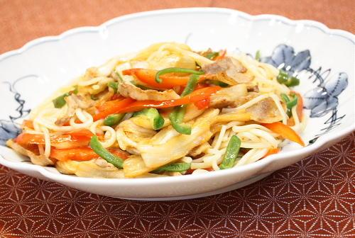今日のキムチ料理レシピ:キムチ焼きひやむぎ