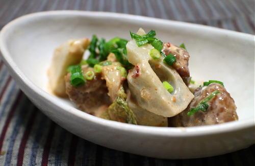 焼き鳥とレンコンのピリ辛マヨ和えレシピ