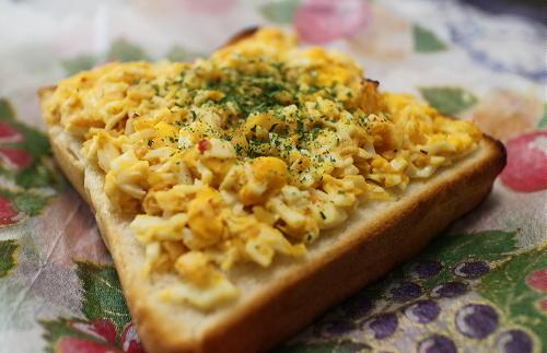 今日のキムチ料理レシピ:キムチのタルタルトースト