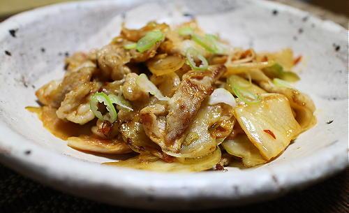 今日のキムチレシピ:豚肉とザーサイのキムチ炒め