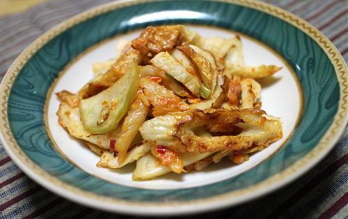 今日のキムチレシピ:ちくわとザーサイのキムチ炒め
