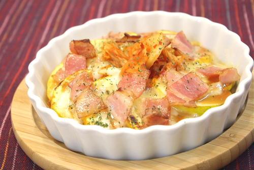 今日のキムチ料理レシピ:ズッキーニとキムチのみそチーズ焼き