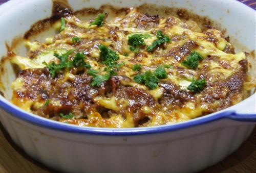 今日のキムチ料理レシピ:ズッキーニのキムチひき肉焼き